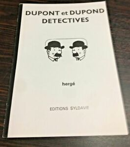 TINTIN-DUPONT-ET-DUPOND-DECTECTIVES-PARODIE-30X20-HOMMAGE-HERGE