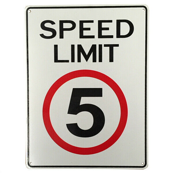 Warning Notice Sign 5 SPEED LIMITED SHARED ZONE SCHOOL 200x300mm Metal Traffic