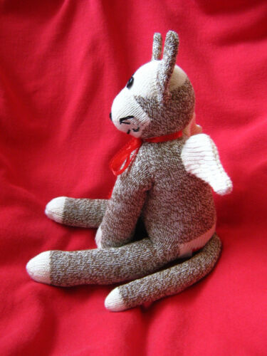 Sock Monkey Flying Cat Handmade Details about  /Winged Cat