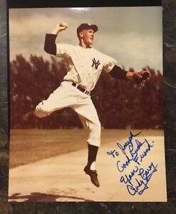 ANDY-CAREY-AUTOGRAPHED-SIGNED-AUTO-BASEBALL-PHOTO-8x10-YANKEES