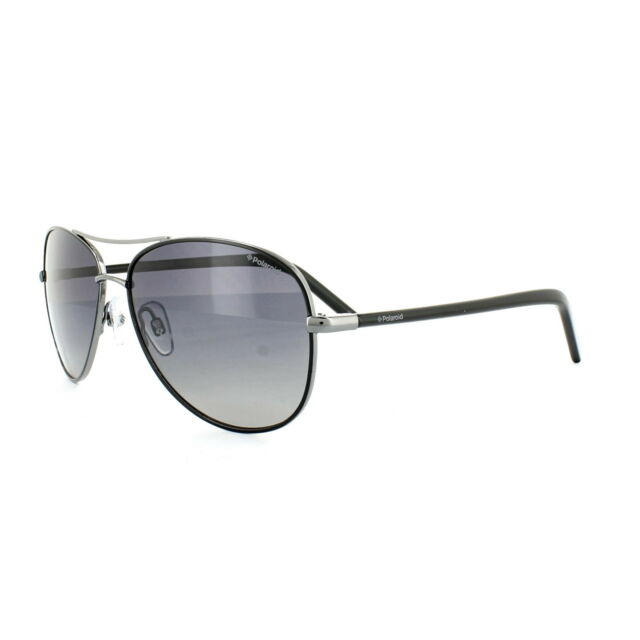350601e0d5a Polaroid Sunglasses PLD4027S CVL IX Dark Ruthenium Black Grey Gradient  Polarized
