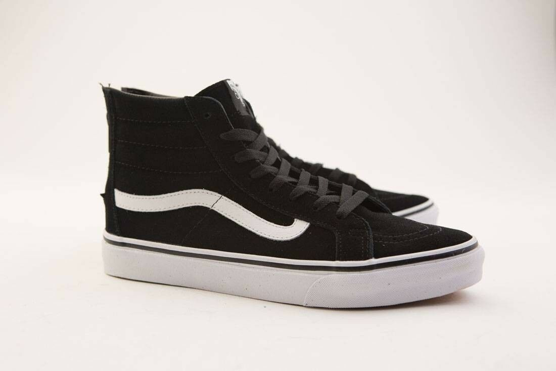 VN08GRQWN Vans Men SK8-Hi Slim Zip black white