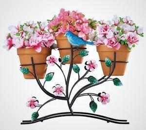 Metal Plant Stand Multiple Flower Pot Holder Decorative Floral And