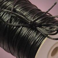 Black Rat Tail Cord, 2mm X 200yd, New, Free Shipping
