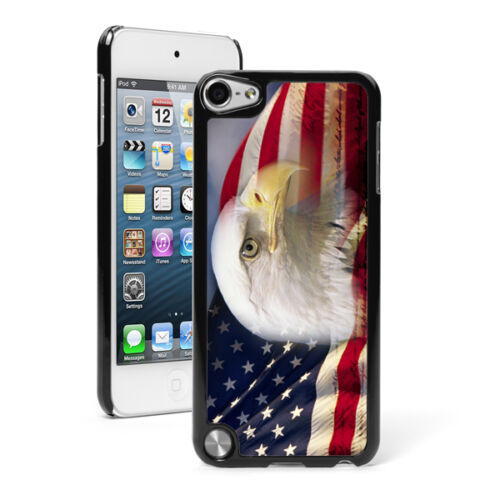 For Apple iPod Touch 4th 5th 6th Hard Case Cover 729 American Bald Eagle Flag