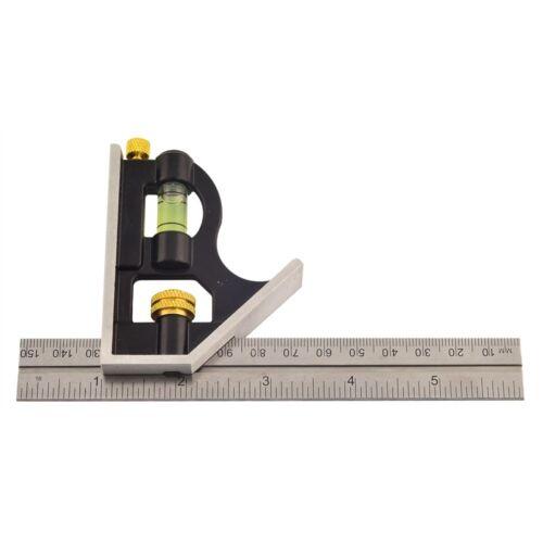 150mm Mini-équerre Combinée Combination Square Rolson Adjustable Sliding