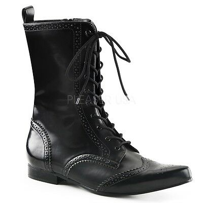 Demonia Rock n Roll Glam Street Hollywood Rocker Wingtip Band Boots Mens 8-13