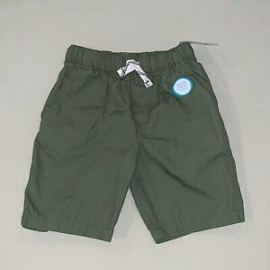 Boys-Size-4-5-Carter-039-s-Pull-On-Drawstring-Shorts-Army-Green-Nwt