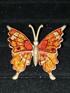brown brooch butterfly brooch brown butterfly,