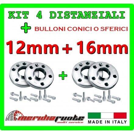 KIT 4 DISTANZIALI PER CITROEN C3 F HDI 16V 2002-2009 PROMEX ITALY 12 mm 16mm *