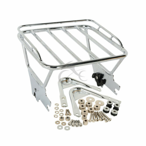 Two Up Luggage Rack /& Docking Hardware Chrome For Harley Touring Road King 97-08