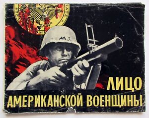 1972-Full-Set-of-16-Soviet-Russian-posters-FACE-OF-AMERICAN-MILITARY-Cold-War
