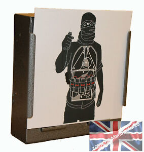 100-Air-Rifle-Suicide-Bomber-Police-Training-Paper-Targets-14cm-100gsm-uk-made
