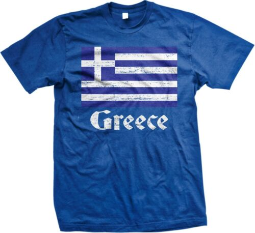 Greece Flag Greek Country Colors Pride 2014 World Cup Men/'s T-shirt