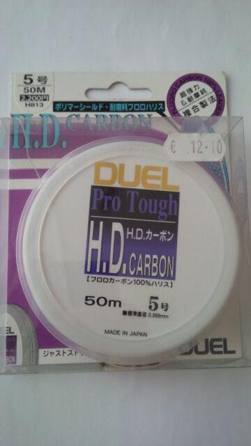 CARBON PRO TOUGH FILO DUEL H.D 20 22 25 30 40 50 55 lb 50 M