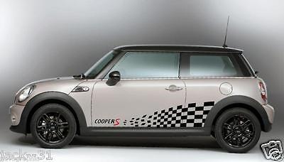 VINYL 2 Side Stripe MINI COOPER S CHALLENGE Rally Race DECAL STICKER KIT