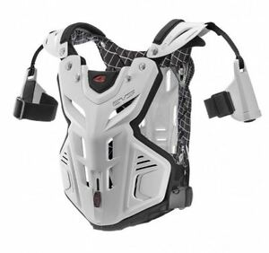 EVS F2 Chest Protector Roost Guard MX Moto Off-Road ATV WHITE Youth-Adult XL
