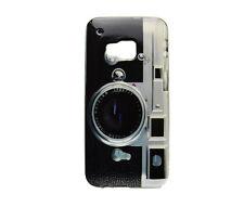 TPU Schutzhüllle f HTC One M9 Tasche Case Etui Cover Kamera retro Fotoapparat