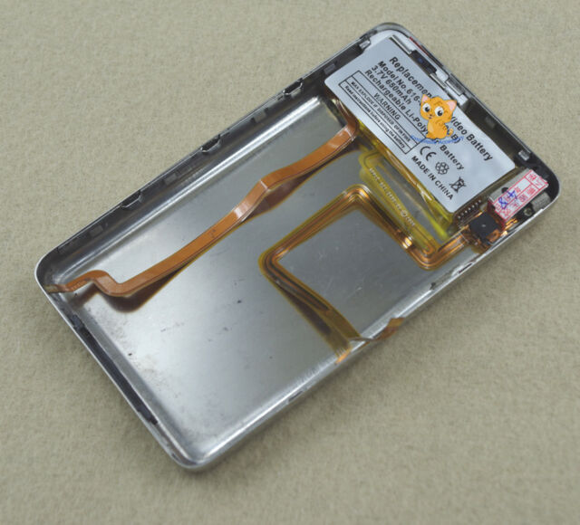 120GB Metal Back Cover Housing 650mAh Battery Audio Jack fr iPod 6th gen Classic