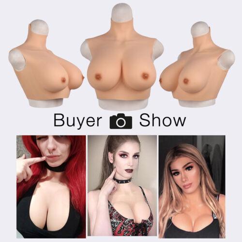 No-oil Silicone Breast Forms Breastplate Fake Boobs Crossdresser  Disguiser