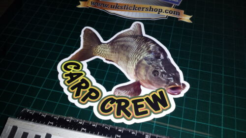 Autocollant pêche brochet Hunter pêche crafty Crew grossier leurre full colour appât