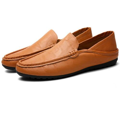Autumn Men/'s Lazy Leather Shoes Driving Moccasin Loafer Casual Slip On Shoes