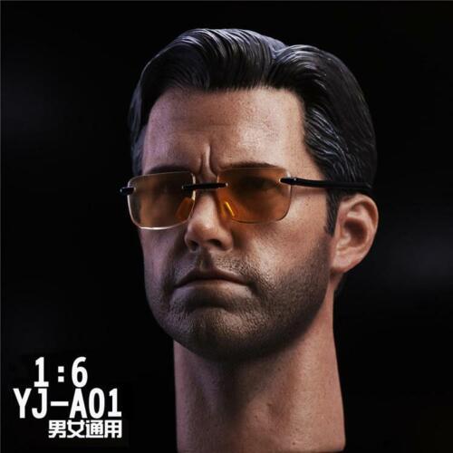 """Custom 1//6 Iron Man Tony Stark Head//Glasses// Body  Sculpt For 12/"""" Hot Toys"""