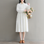 Womens-A-Line-Pleated-Cotton-Linen-Shirt-Dress-Thin-Long-Sleeve-Dress-Casual-New thumbnail 7