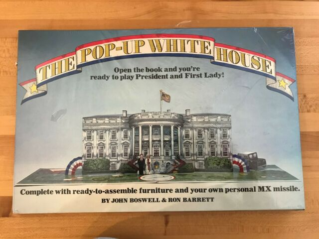 The Pop-Up White House Book  Ronald & Nancy Reagan 1983 Bantam J Boswell