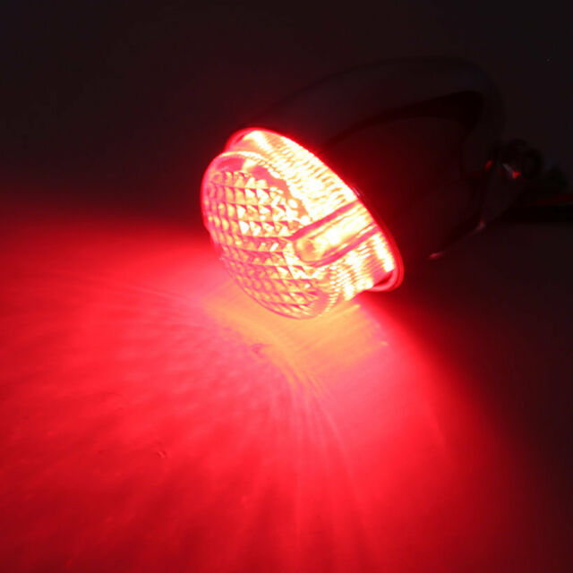 Motorcycle LED Brake Stop Running Tail Light Cafe For Racer Cruiser Z