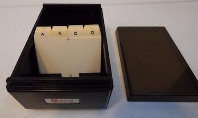 Metal//Plastic 4 1//4 x 8 1//4 x 2 1//2 Black Universal 10601 Business Card File