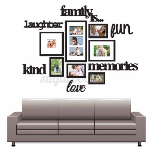 3D Family Photo Picture Frame Acrylic Wall Sticker Collage Home Party Decor Art