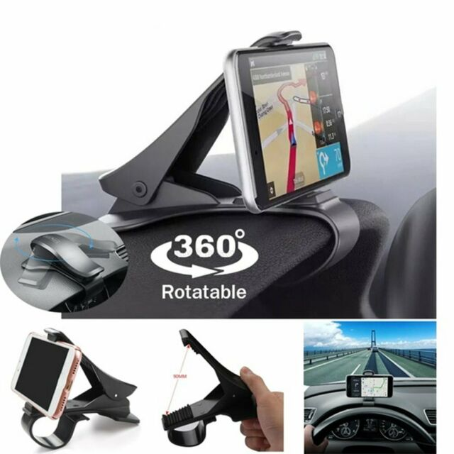 Universal Clip On Car HUD GPSDashboard Mount Cell Phone Holder Non-slip Stand