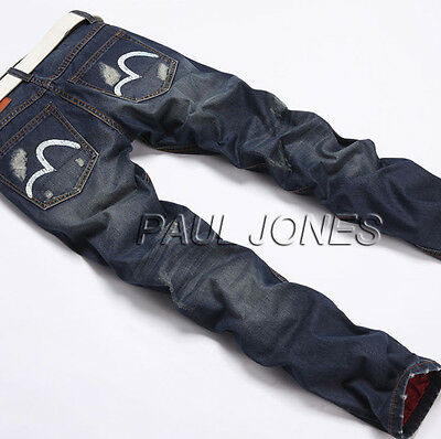 Fashion Men Slim Fit Casual Jean Pants Skinny Stretch Straight Jeans Trousers