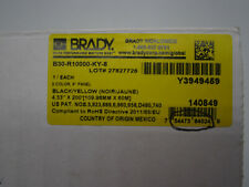 Brady Blackyellow Printer Ribbon Cartridge 433 X 200 Ft B30 R10000 Ky 8