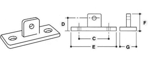 Tube Scaffold Kee Allen Key Handrail Pipe Clamp Tube Clamp-169M-Male Flange