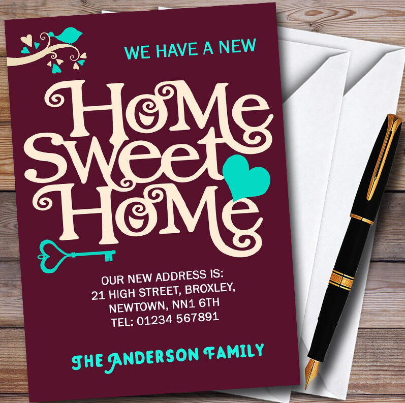 Wine rot Home Sweet Home New Home Change Of Address Moving House Cards