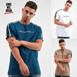 Kings-Will-Dream-Mens-Rosely-Designer-Crew-Neck-KWD-Taped-Shoulder-T-Shirt-Tee