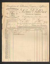 """CARPENTRAS (84) USINE / FERBLANTERIE ZINGUERIE SOUFFLERIE """"Louis GILLOUX"""" 1895"""