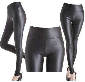 black leather leggings Tight
