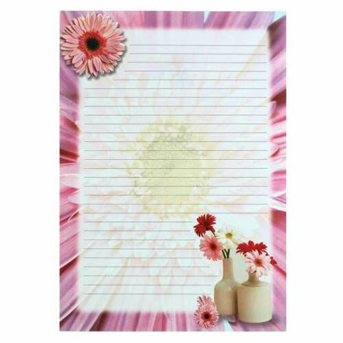 A4 8 Designs Floral Writing Paper