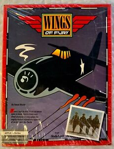 Wings of Fury Computer Game by Broderbund APPLE IIE / IIC / IIGS - NEW