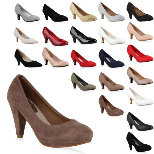 Klassische Damen Abiball Pumps Stiletto Absatz Abend Schuhe 810022 Hochzeit Mode