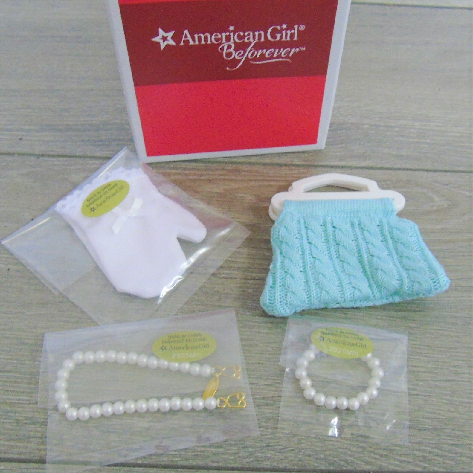 Nuovo American Girl Maryellen Bambola Accessori Collana di Perle Bracciale Glove