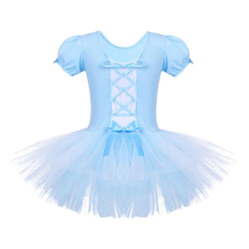 Child Girl Ballerina Ballet Dance Dress Kid Gymnastic Leotard Tutu Skirt Costume
