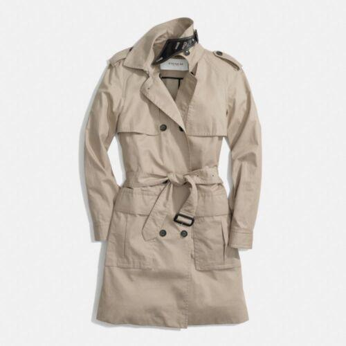 Msrp Nwt estivo F84571 New coat 498 Coach cotone Khaki Trench in wFU8vq