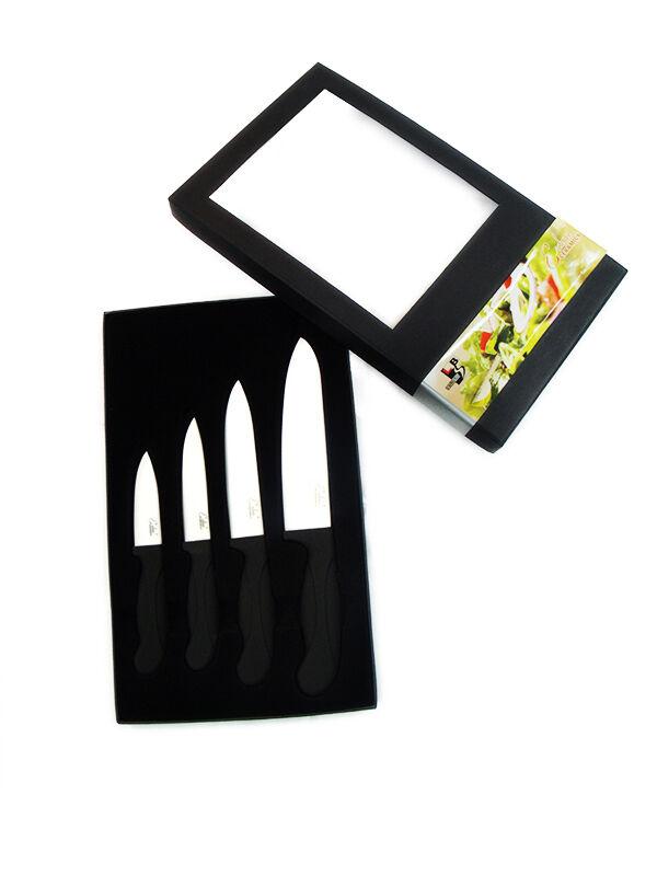 4 PIECE SHARP Weiß Ceramic Knife Set Kitchen Knives Fruit Peeler in Gift Box