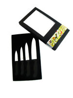 4 Piece Sharp White Ceramic Knife Set Kitchen Knives Fruit Peeler In Gift Box