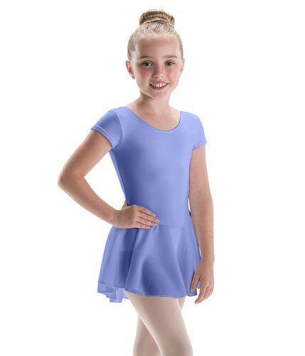 12 10 3 Girls MotionWear Bow Back Cap Sleeve Periwinkle Dance Leotard  XS M L