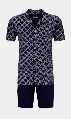 Pyjama Shorty Bleu Court Pyjama 58 Ringella Taille Boutonn XL 1gTzX